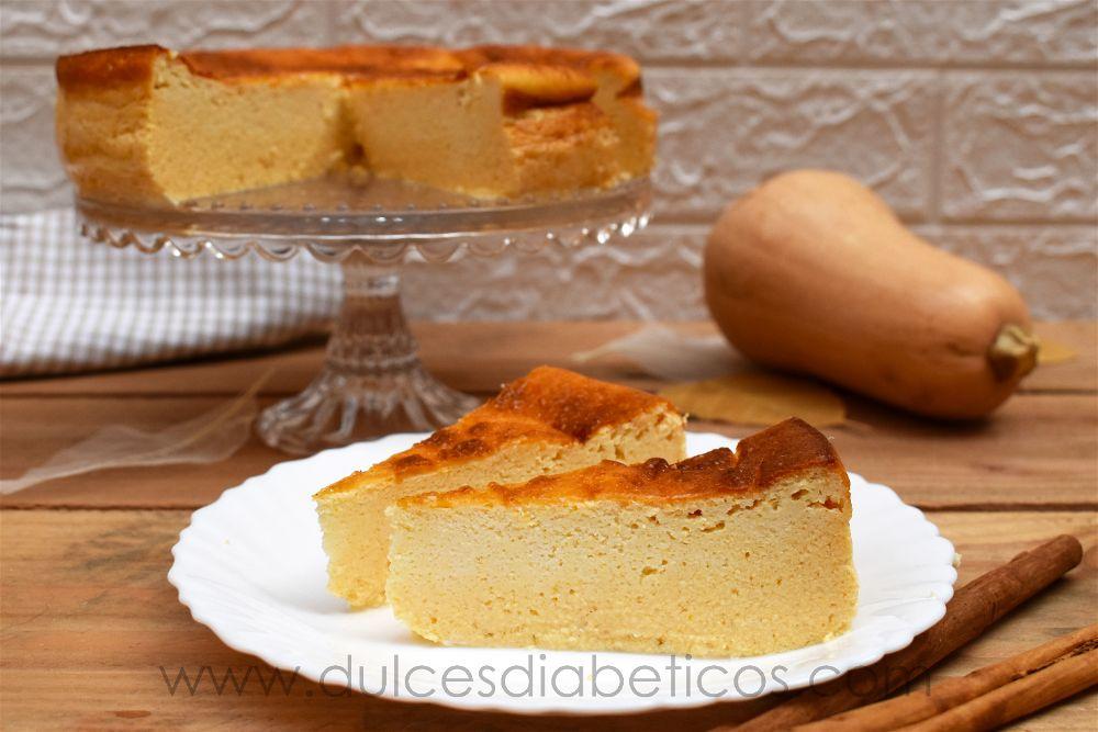 Tarta de queso y calabaza sin azucar