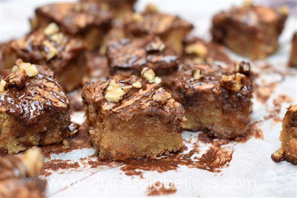 Brownie jugoso de turron y nutella