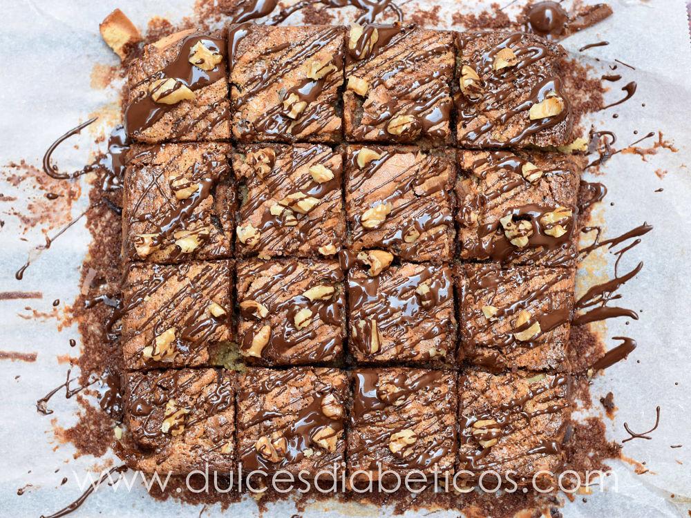 Brownie marmolado de turron y nutella