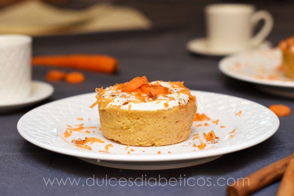 Pastelitos de zanahoria al microondas