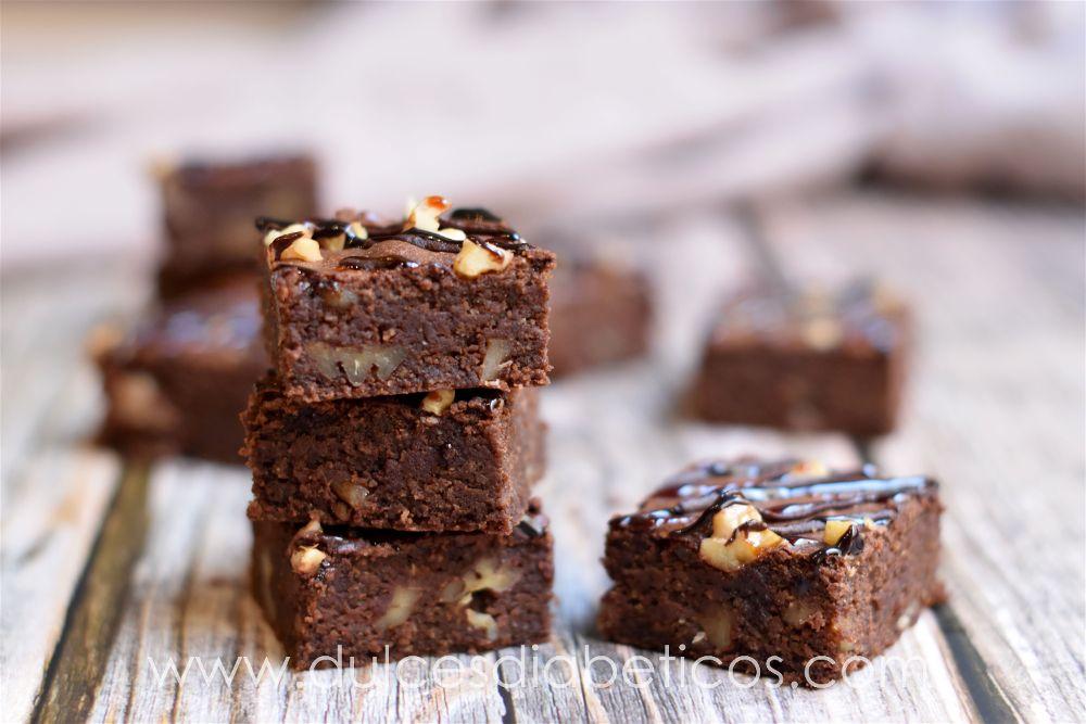 Brownie fit saludable y sin azucar