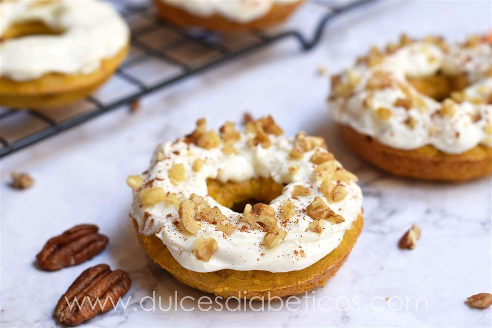 Donuts de zanahoria saludables sin azucar