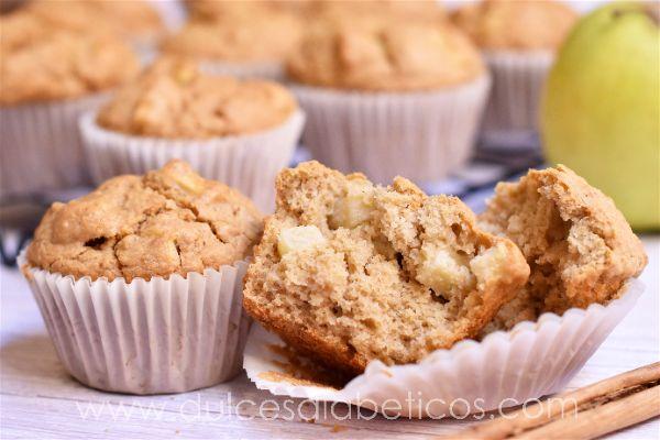 Muffins de avena y manzana saludables