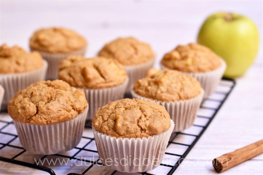 Muffins de avena y manzana sin azucar